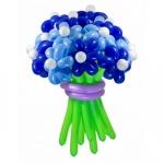 Букет из воздушных шаров синий