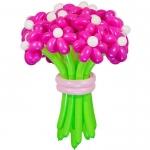 Букет из воздушных шаров розовый
