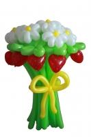 Букет из воздушных шаров с клубникой