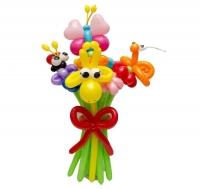 Букет из воздушных шаров веселый
