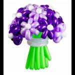Букет из воздушных шаров сиреневый