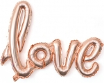"""Надпись """"Love"""" розовое золото"""