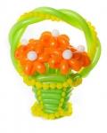 Корзина с цветами из воздушных шаров №7