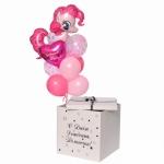 Коробка сюрприз с воздушными шарами №12