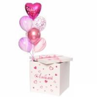 Коробка сюрприз с воздушными шарами №17