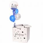 Коробка сюрприз с воздушными шарами №18