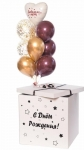 Коробка сюрприз с воздушными шарами №19