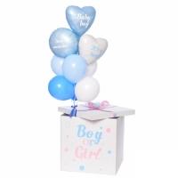 Коробка сюрприз с воздушными шарами