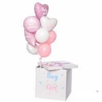 Коробка сюрприз с воздушными шарами №6
