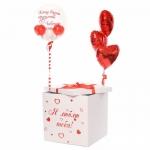 Коробка сюрприз с воздушными шарами №9