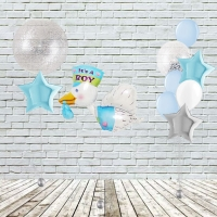 Оформление помещения воздушными шарами малыш