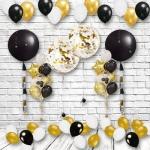 Оформление помещения воздушными шарами золотое