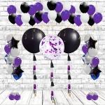 Оформление помещения воздушными шарами фиолетовое