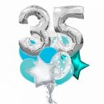 Набор воздушных шаров 35 серебро