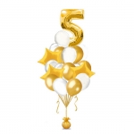Набор воздушных шаров белое золото