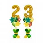 Стойка с цифрами и шарами 23 февраля
