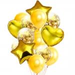 Набор шаров золотой