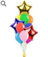 Фонтан из шаров разноцветный