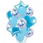 Набор из шаров голубое конфетти