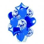 Набор из шаров синий