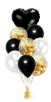 Набор шаров черно-белый