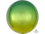 Шар 3д сфера градиент желто-зеленый