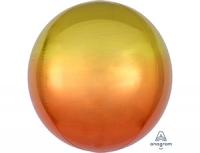 Шар 3д сфера желто-оранжевый