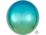 Шар 3д сфера градиент зелено-голубой