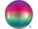 Фольгированный шар 3Д Сфера Градиент Радуга