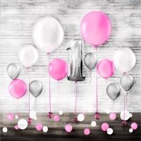 """Набор воздушных шаров """"Нежное для девочки"""""""