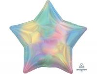 Фольгированный шар звезда перелив пастель