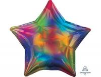 Фольгированный шар звезда перелив радуга