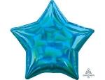Фольгированный шар звезда перелив голубой