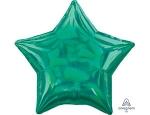 Фольгированный шар звезда перелив зеленый