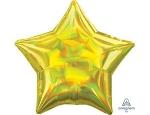 Фольгированный шар звезда перелив желтый