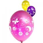 """Воздушные шары """"С Днем Рождения Цветы Птицы"""""""