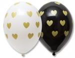 """Воздушные шары """"Сердца золотые маленькие"""""""