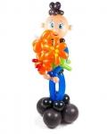 """Фигура из воздушных шаров """"Мальчик с букетом"""""""