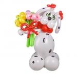 """Фигура из воздушных шаров """"Далматинец девочка"""""""