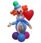 """Фигура из воздушных шаров """"Клоун с сердцем"""""""