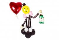 """Фигура из воздушных шаров """"Смайлик с шампанским"""""""