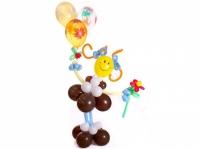 """Фигура из воздушных шаров """"Смайлик школьница"""""""