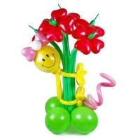 Букет воздушных шаров смайлик