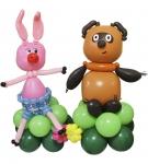 """Фигура из воздушных шаров """"Винни и Пяточек"""""""