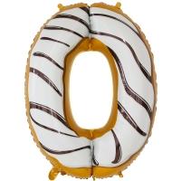 Фольгированная цифра 0 пончик