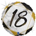 Фольгированная цифра 18 черный