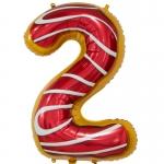 Фольгированная цифра 2 пончик