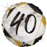 Фольгированная цифра 40 черный