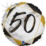 Фольгированная цифра 50 черный