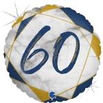 Фольгированная цифра 60 синий